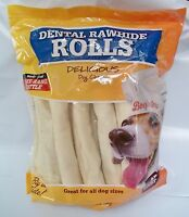 Dental Rawhide Rolls, Beefeaters, 15 Count Bag, 3.7 Lbs