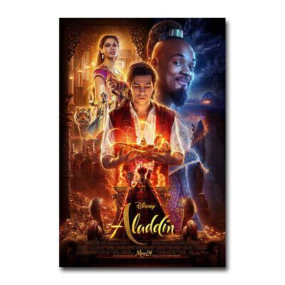 Aladdin Movie Silk Canvas Poster 2019 Disney Live Action Art Film Print 24x36 Ebay