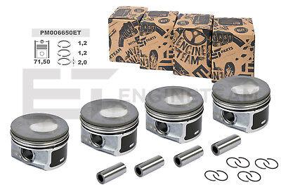 4x Piston excès 0,5 mm Audi Seat Skoda VW ALHAMBRA 1,4 TSI TFSI CAVD cavf NEUF