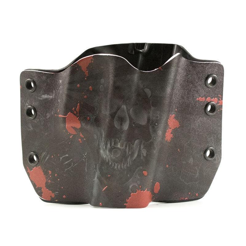 SIG, Tat Skull Red, OWB color Kydex Gun Holsters