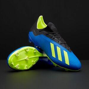 solo recluta Elasticidad  Adidas Men's X 18.2 FG Cleats (Blue/Yellow/Black) DA9334 US Size8.5 MSRP  $130.00 191036830539 | eBay