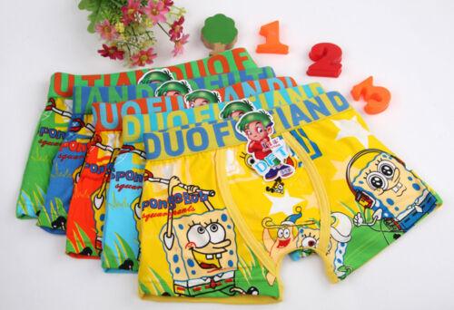 Lot Spongebob cartoon Children cartoon boy cotton underwear Boxer shorts Gift