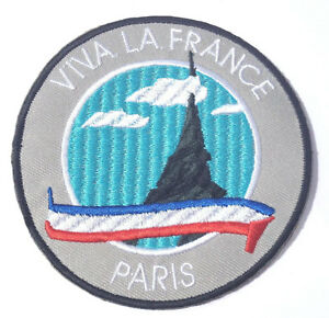 Eiffel Tower Badge Embroidery Patch Iron Sew On French Paris France Souvenir