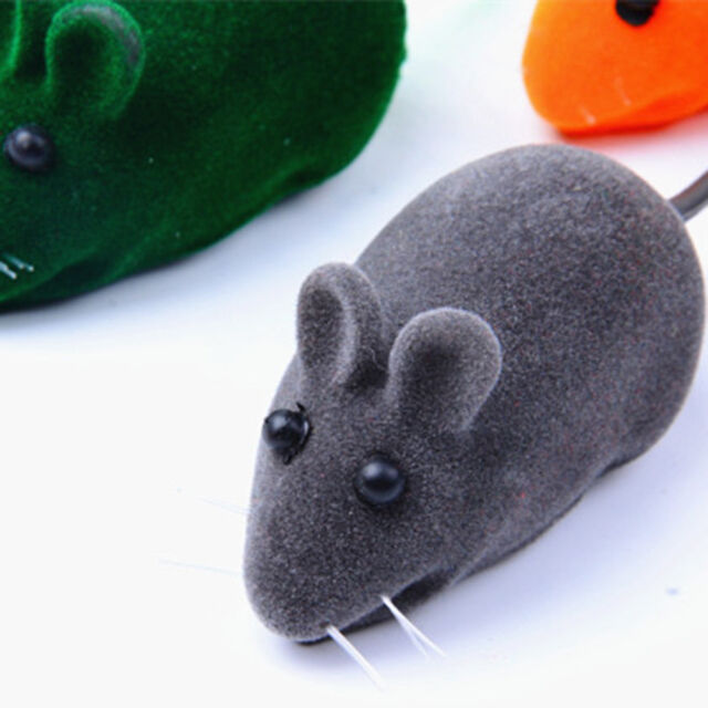 2pcs Mouse Squeak Sound Funny Rat Playing Toy For Cat Kitten Pet Play Toys