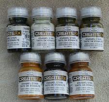 Testors CreateFX Enamel Stain Set Of 7 Stains 1 oz. Each ~ NEW