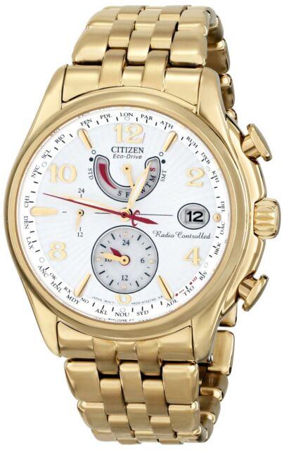 New Citizen Eco-Drive A-T Perpetual Calendar  Gold Tone Ladies Watch FC0002-53A