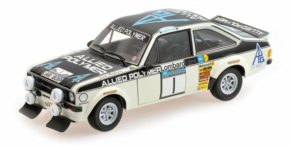 Ford ESCORT II rs1800  1 winner rac  rally 1975 t. Makinen H. Liddon 1 18 Model  magasin discount