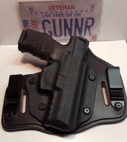FITS SIG SAUER MODELS IWB /& OWB TUCKABLE HYBRID HOLSTER KYDEX BRIDLE LEATHER CCW