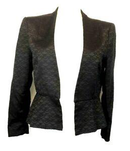 H41) H&M Damen Blaser Jacke Gr.38 M schwarz Gemustert Wie Neu