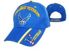 US Air Force Veteran Patriotic Ball Cap OIF OEF Vietnam Korea Vet USAF V Hat