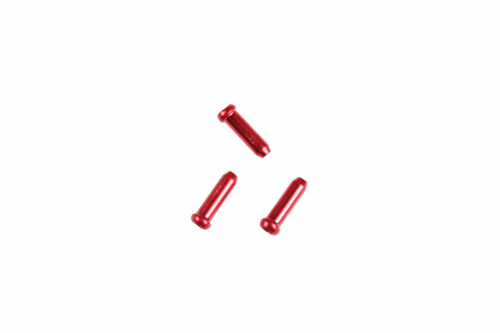Juin Tech CT01 Bike Cable End Caps Tips 10pcs for Brake and Derailleur Red