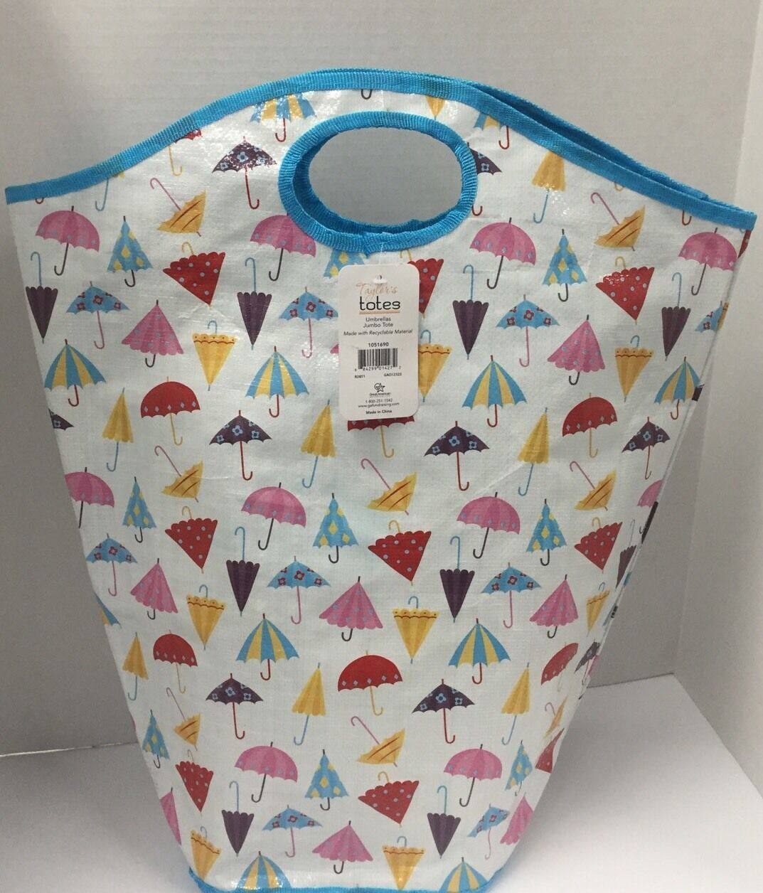 Taylor's Totes Jumbo Tote Bag Umbrellas Lot of 2 Reusable Bags (NEW)