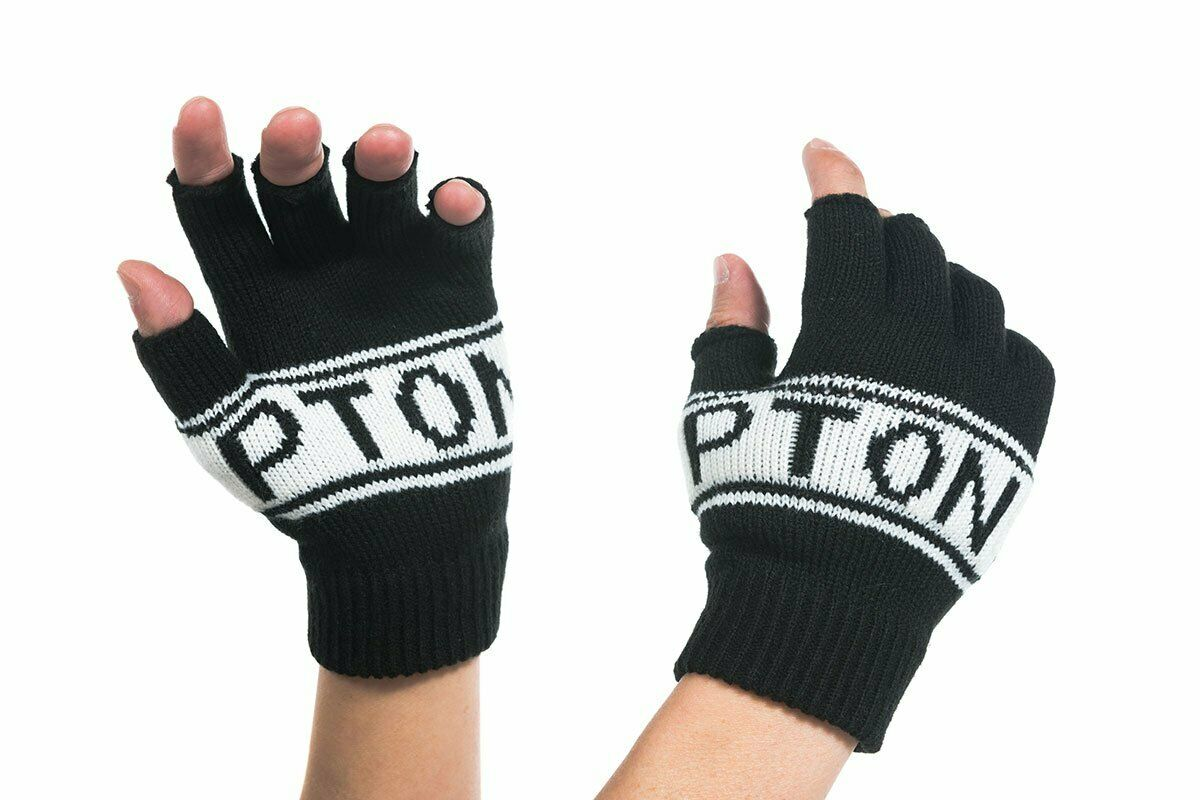 Brompton Logo Collection Knitted Fingerless Gloves ONE SIZE UNISEX