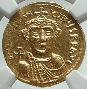 CONSTANS-II-Pagonatos-641AD-Ancient-GOLD-Byzantine-Solidus-Coin-NGC-MS-i66184