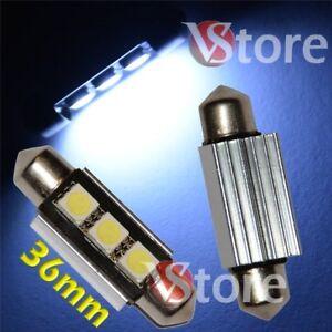 2-LED-Siluro-36mm-3-SMD-Canbus-Lampade-BIANCO-Luci-Interno-Targa-Xenon-No-Errore