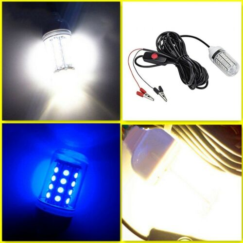 12V 108 LED Underwater Submersible White Night Fishing Light Crappie Squid Boat