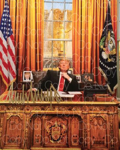 Donald Trump signed Republican Party 8X10 photo picture autograph poster RP
