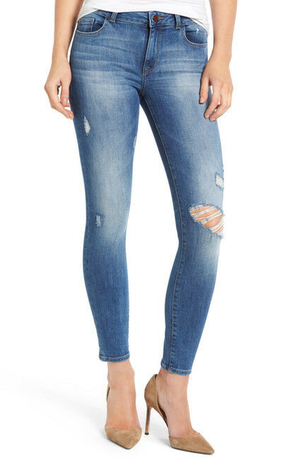 NWT  DL1961 Margaux Instasculpt Ripped Ankle Skinny Jeans-Stealth-Size 29