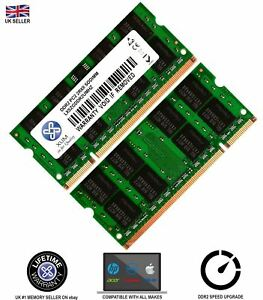 Memory-RAM-4-Laptop-DDR2-6400-PC2-800-MHz-Sodimm-Notebook-200-PIN-CL6-2-x-LOT-GB