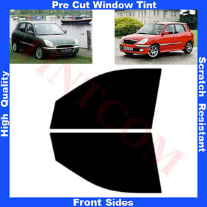 Pre-Cut-Window-Tint-Daihatsu-Sirion-Hatchback-5D-1998-2005-Front-Sides-Any-Shade