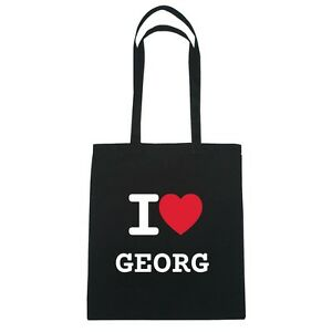 Hipster I Georg Love nero Jute Bag Colore qrIzvWrwnU