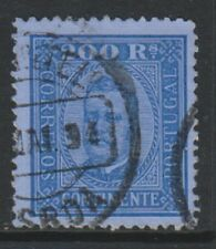 Portugal - 1893, 200r Blue/Blue - Perf 12 1/2 - G/U - SG 252