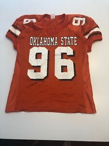 wholesale dealer ebb9f cdc8c Details about Game Worn Used Oklahoma State Cowboys Football Jersey #96  Size 4XL