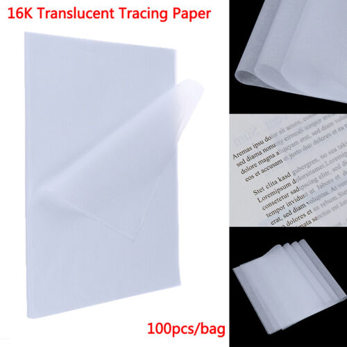 100pcs Tracing Paper Translucent Craft Copying Calligraphy Drawing Writing Sbw