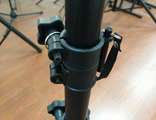 Pro audio speaker stands pair carrying bag DJ tripod adjustable height