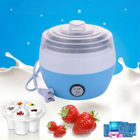 1L Stainless Steel Automatic Yogurt Maker DIY Delicious Yoghurt Container 220V