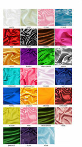 BRIDAL-SATIN-FABRIC-60-034-X20yds-Wedding-Dress-Party-Favor-Decoration-Table-Covers
