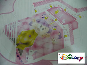 Set-Crib-Bed-Disney-Quilt-Trapuntino-Cucciolo-Rosa-With-Cot-Bumpers