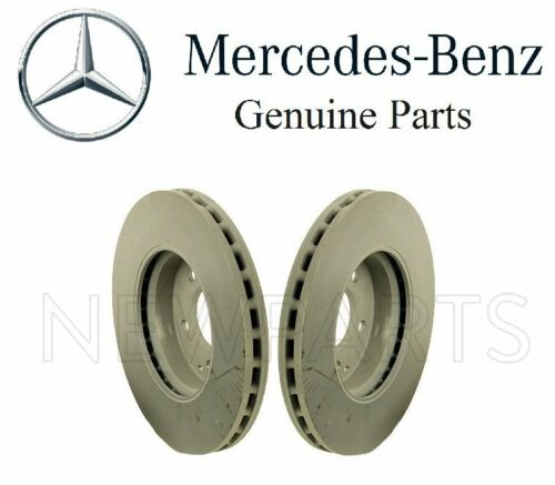 For Mercedes W211 E350 Set of Two Front Brake Disc Rotors /& Brake Pads Genuine