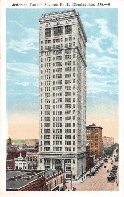 D59/ Birmingham Alabama AL Postcard c1915 Jefferson County Savings Bank