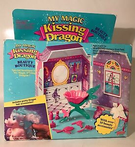 Vintage My Magic Kissing Dragon Beauté Boutique 1993 Ensemble de jeu Galoob 31510 scellé