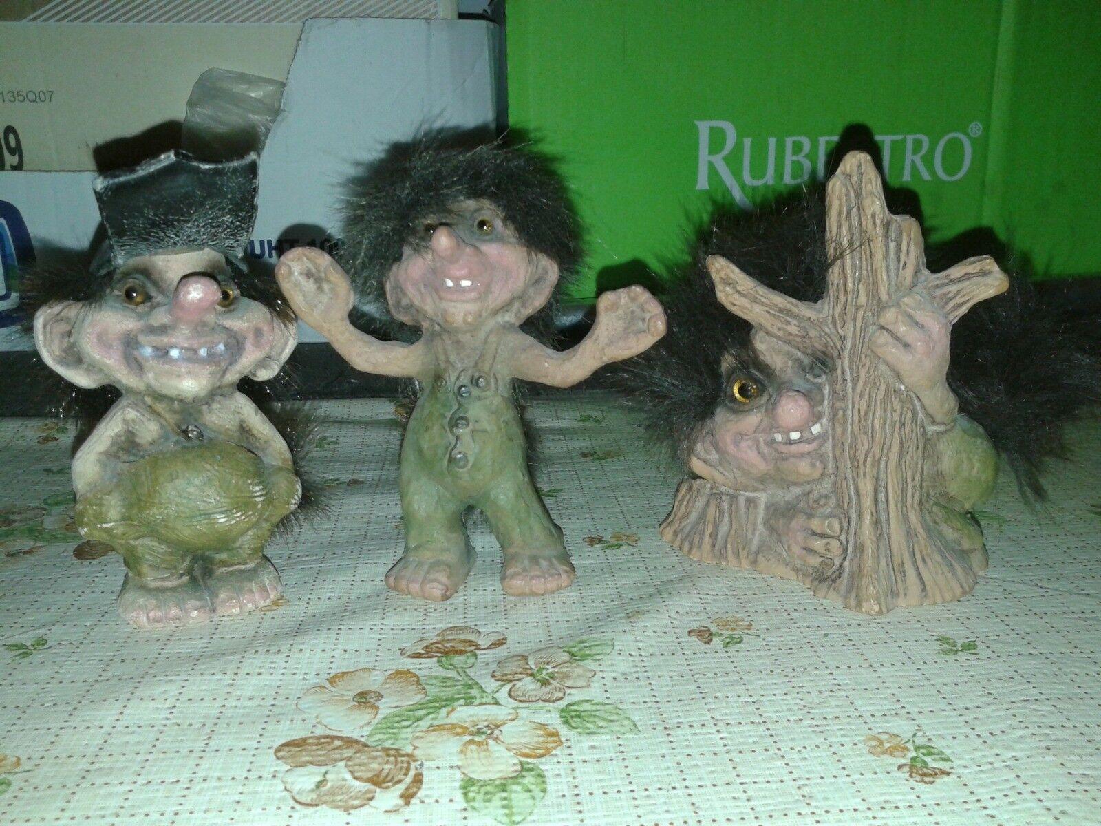 Tre troll norvegese usati (3 norvegian troll)