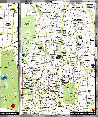 Map of Madrid, Spain, by Red Maps, street map | eBay