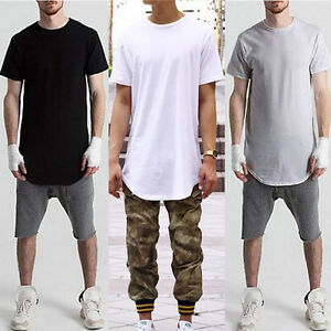 Mens-Loose-Baggy-Short-Sleeve-O-Neck-Street-T-shirts-Hip-hop-Casual-Club-Tee-Top