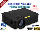800 Lumens Portable Mini Multimedia HD LED Projector Home Cinema AV USB SD HDMI
