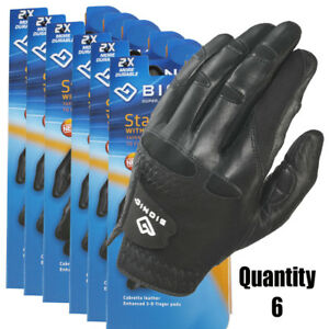 6-x-Bionic-Mens-StableGrip-Golf-Glove-Left-Hand-Black-Leather-26-45-ea