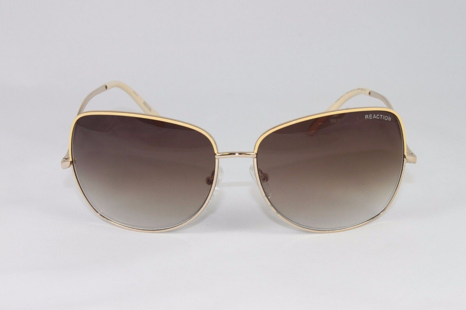 fc4fd32b8f Kenneth Cole Reaction Sunglasses 1191 32F Gold Beige Authentic New  Christmas Supplies