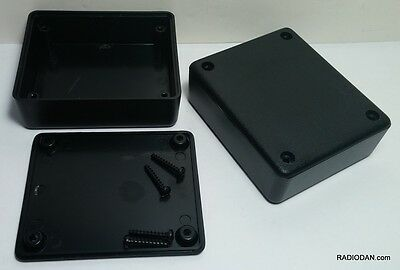 6 pcs USA black plastic Electronic Project Box Enclosure case 3 x 2.5 x 1 in