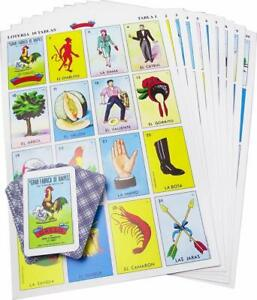 Loteria Mexicana.Don Clemente La Original 20 playing boards 54 playing cards.