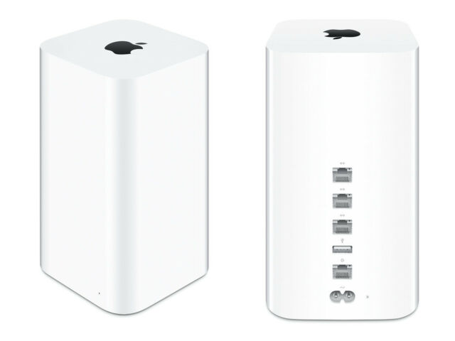 APPLE AirPort Extreme 802.11ac Wireless Router Base Station ME918LL/A VG In Box