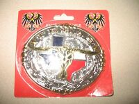 Texas Texans Horns Lone Star Gold And Silver Belt Buckle