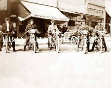 5 OLD MOTORCYCLE MOTORCYCLES ICE CREAM SHOP STORE PHOTO