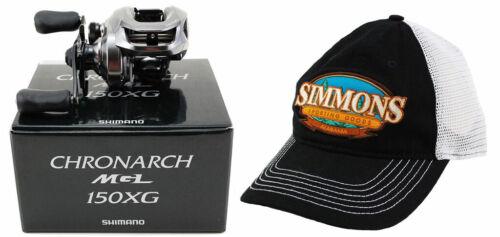 HAT BUNDLE-SHIMANO CHRONARCH MGL 150XG 8.1:1 RIGHT HAND BAITCAST REEL