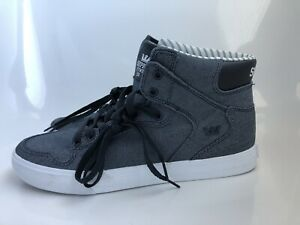 sneakers for cheap d404f 31f46 Image is loading Supra-VAIDER-Blue-Grey-Skater-Shoes-08204-427-