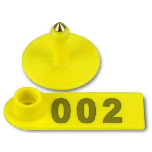 Láser 100 un. número de oreja Etiquetadora de etiqueta de oreja de oveja ganado