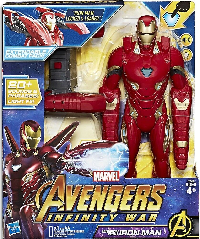 Marvel Avengers  Infinity War Mission Tech Iron Man Action Figure